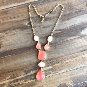 Loft Pink and Gold Drop Necklace